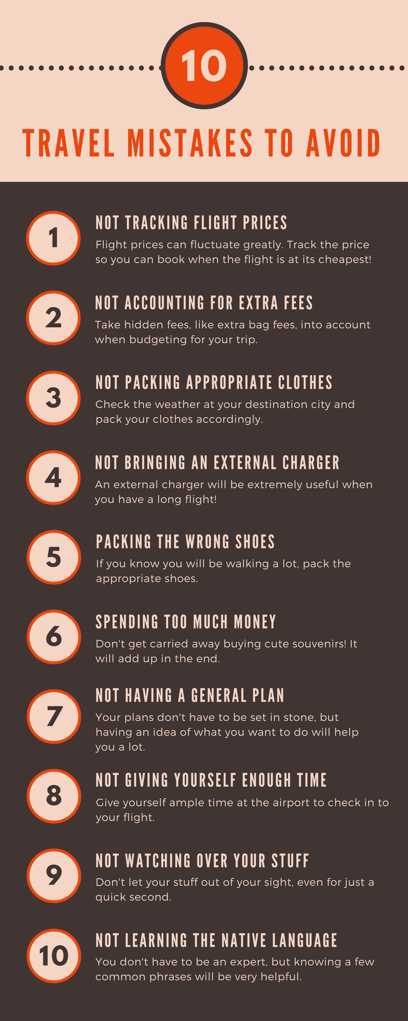 college student travel mistakes to avoid
