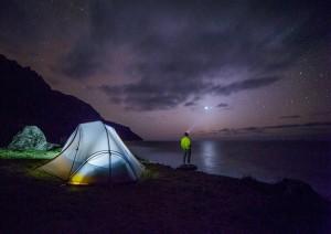 camping romantic getaway