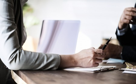 hands, paper, desk, person