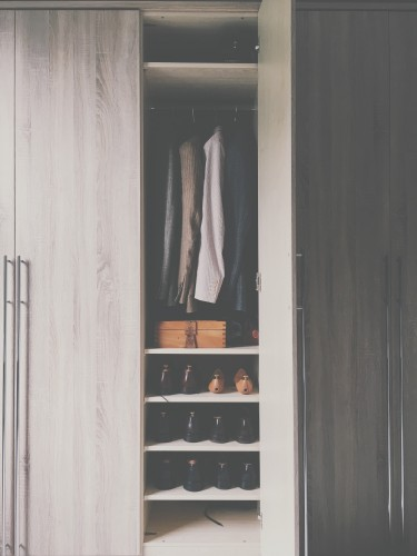 wardrobe, shoes, closet, coat, shelves