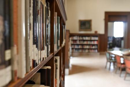 library, books, school, shelf, textbooks