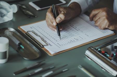 list, checklist, hands, man, paper, pen
