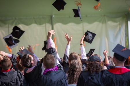 graduation, graduate, cap, gown, college