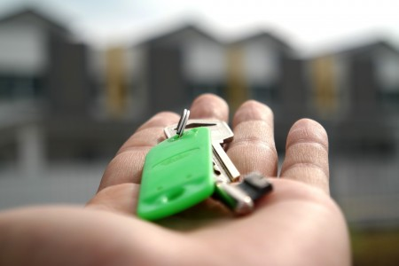 key, hand, apartment, home, rent, landlord