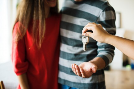 couple, man, woman, key, moving, move, apartment, home