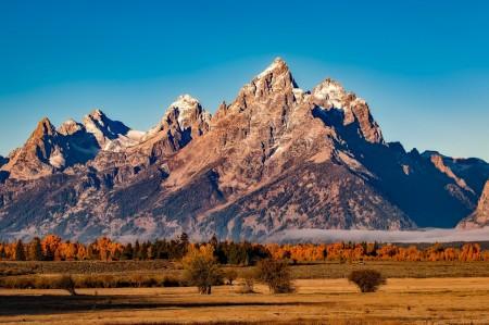 rocky mountains, mountains, nature, sky, trees, beautiful